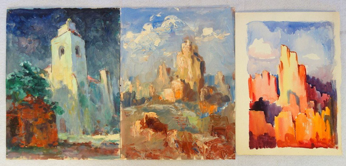 Grouping of 27 mostly impressionist landscapes, various - 3