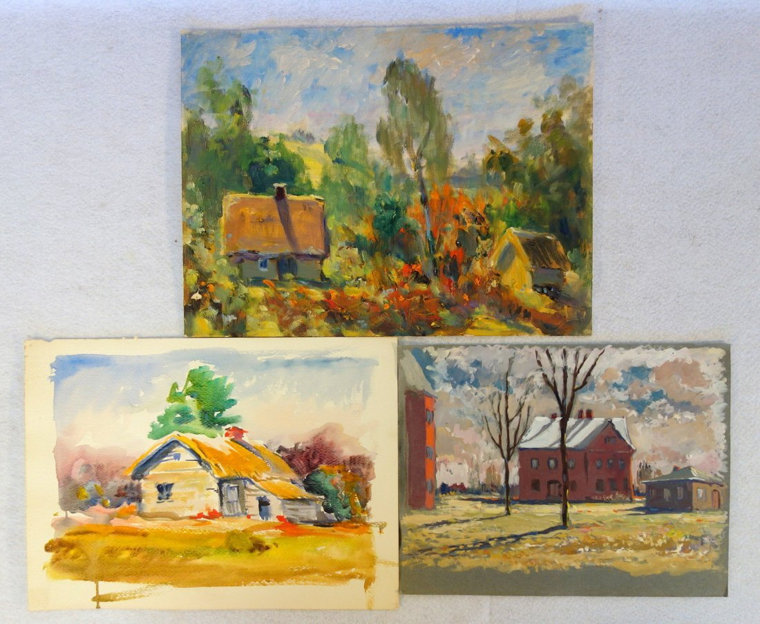 Grouping of 27 mostly impressionist landscapes, various - 5