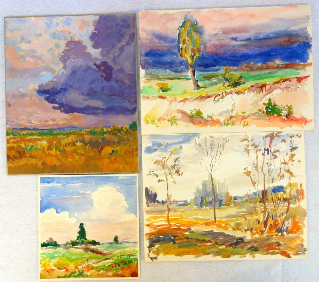 Grouping of 27 mostly impressionist landscapes, various - 6