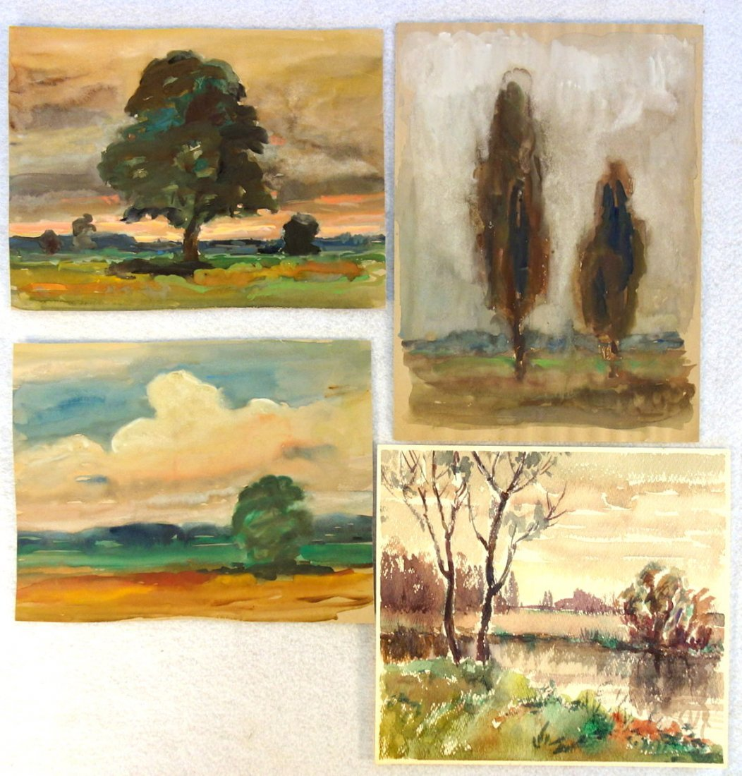 Grouping of 27 mostly impressionist landscapes, various - 7