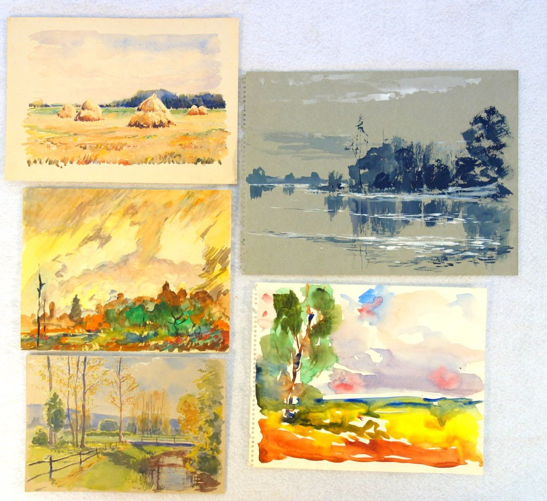 Grouping of 27 mostly impressionist landscapes, various - 8