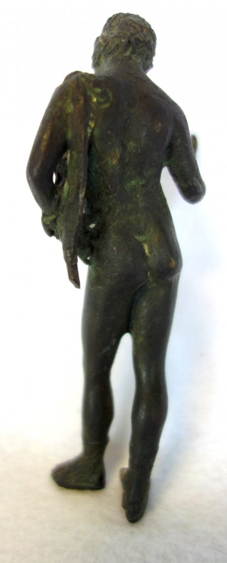 Small bronze sculpture of a classical male nude - - 2