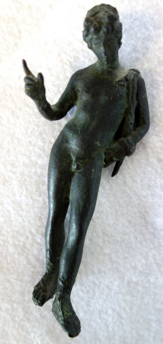 Small bronze sculpture of a classical male nude - - 5