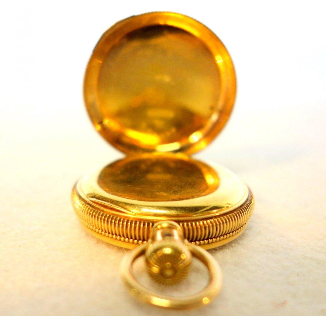 Signed Elgin gold pocket watch mark Dueber 14k - - 4