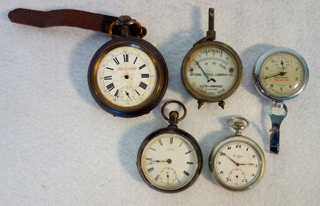 Grouping of old watches including Walthman coin silver - 2