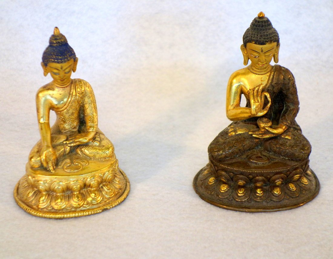 Four Indian decorative objects including ornate bronze - 3