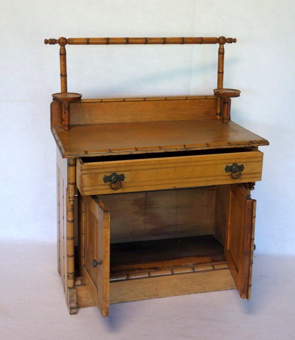 Salesman sample Victorian poplar wood washstand with - 2
