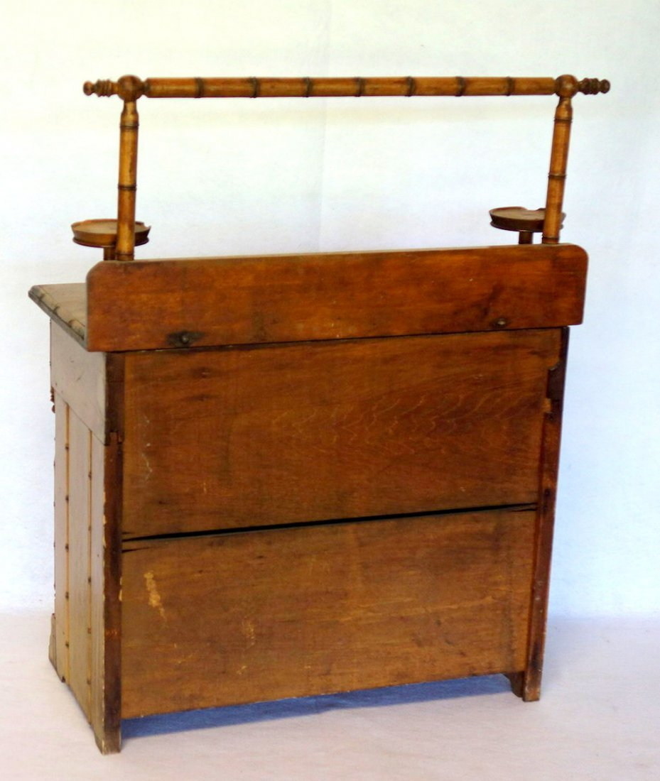 Salesman sample Victorian poplar wood washstand with - 3