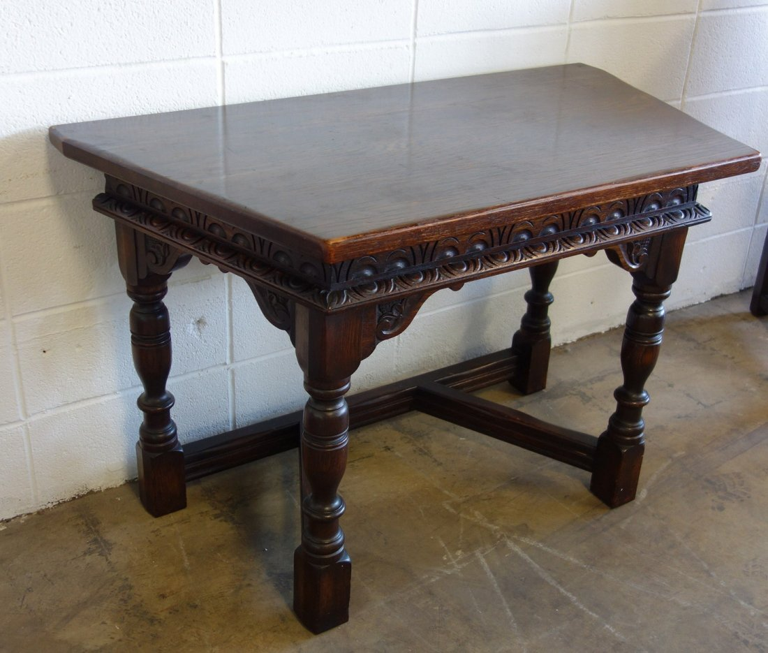 The best 1920's Jacobean style 12 piece oak dining room - 10