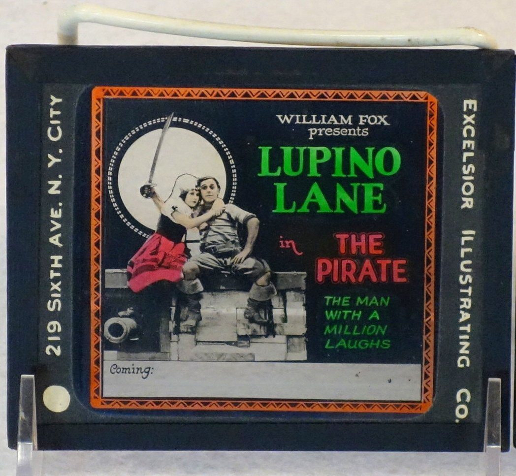 Grouping of 19 glass slides of old movie posters some - 3
