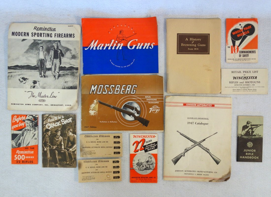 Grouping of mostly gun catalogues including Johnson