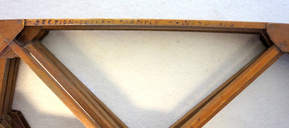 Group of 4 hand made wooden frames possibly for a - 3