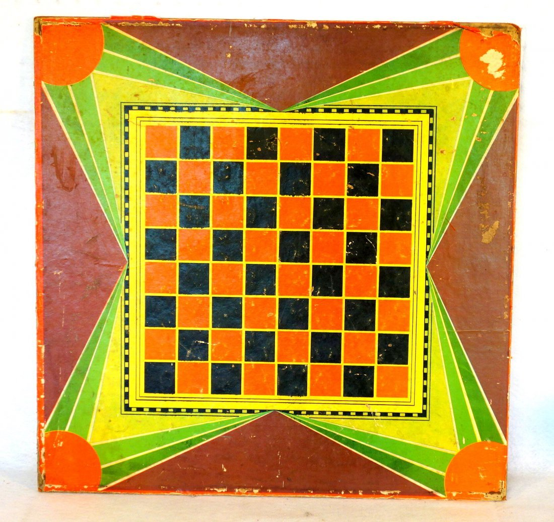 Colorful lithographed paper on pressed board game - 3