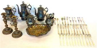 Large grouping of mostly Victorian era silver plate