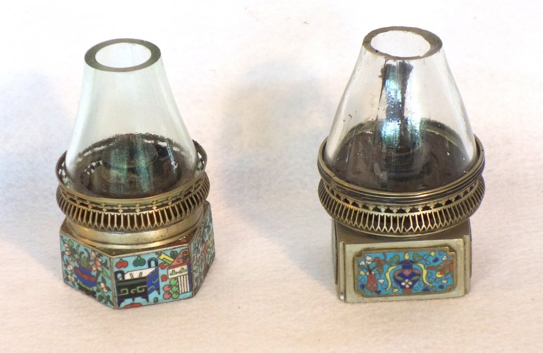 Grouping of 5 chinese cloisonné articles including a - 2