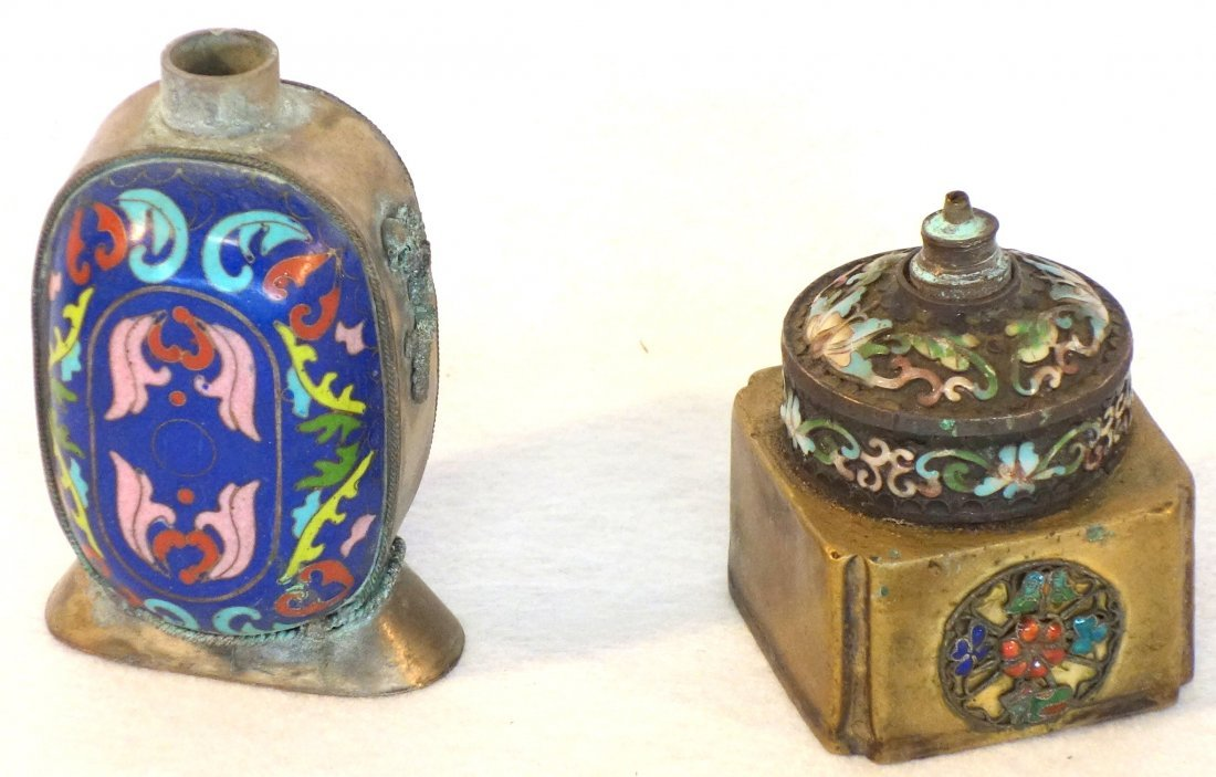 Grouping of 5 chinese cloisonné articles including a - 3