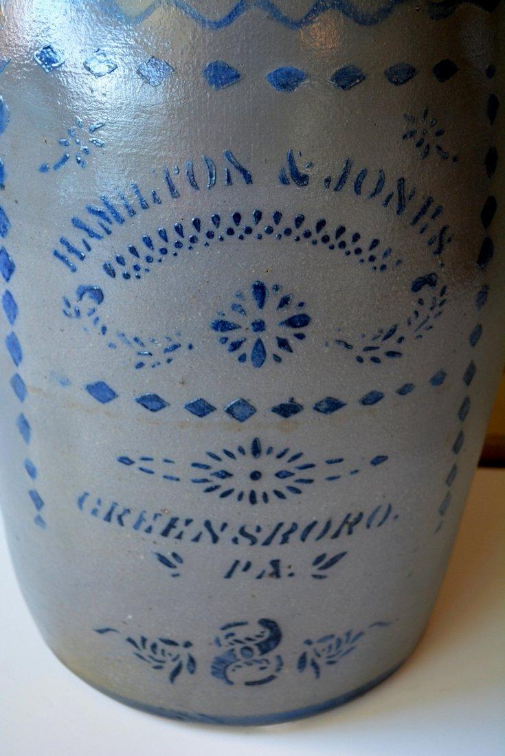Large Pennsylvania stoneware 8 gallon cobalt blue - 2