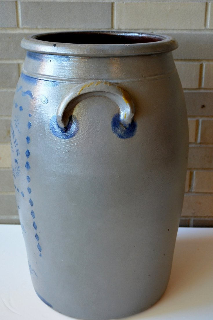Large Pennsylvania stoneware 8 gallon cobalt blue - 3