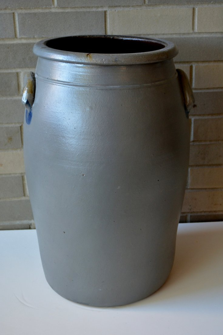 Large Pennsylvania stoneware 8 gallon cobalt blue - 4