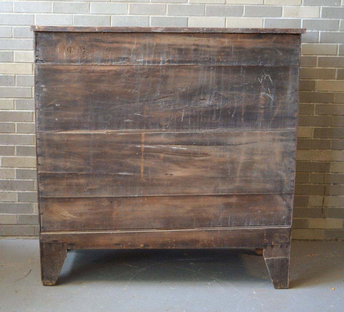 Jelly cupboard in poplar wood having 3 short drawers - 2