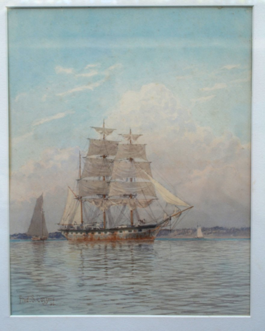 Frederic Schiller Cozzens, NY 1846-1928 - W/C Two mast - 2