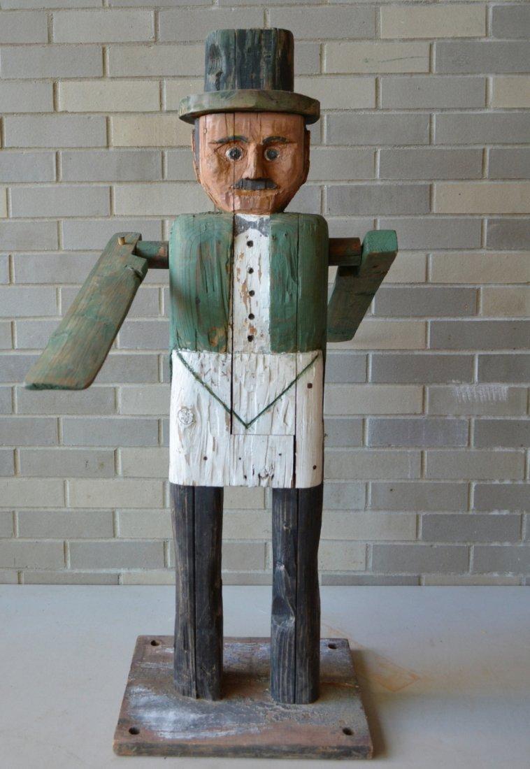 Large folk art custom made wooden whirligig in the form