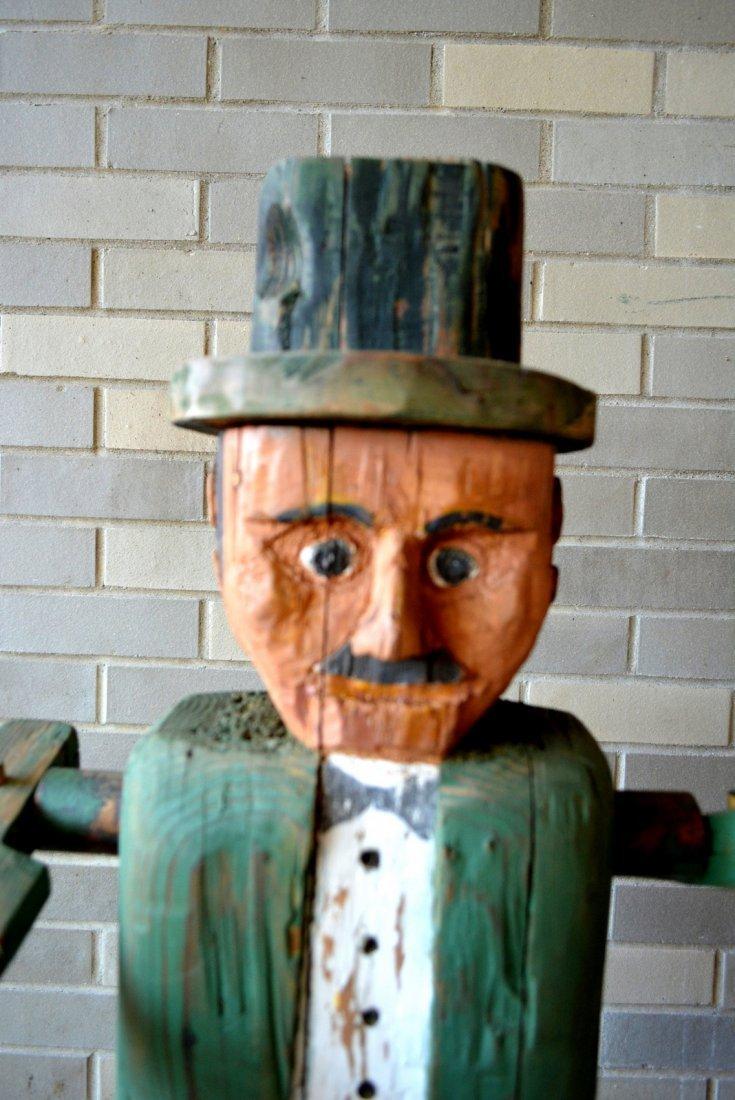 Large folk art custom made wooden whirligig in the form - 2