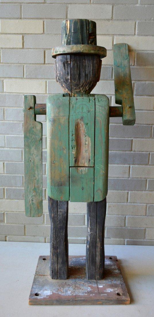 Large folk art custom made wooden whirligig in the form - 4