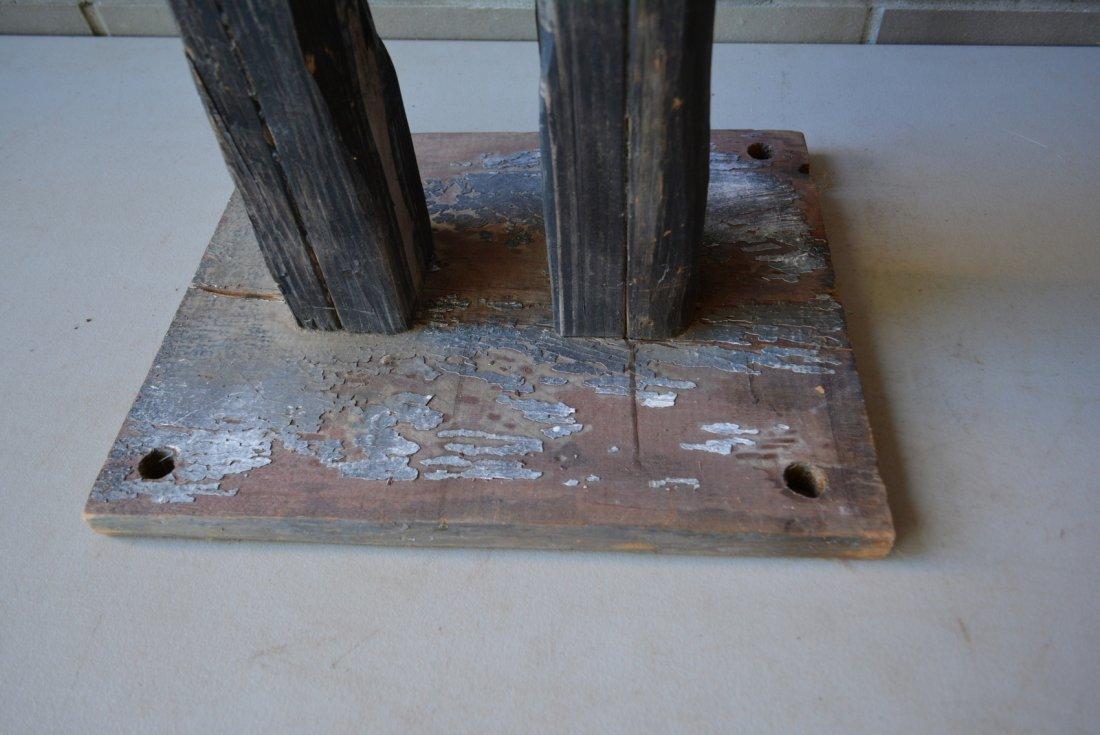 Large folk art custom made wooden whirligig in the form - 6