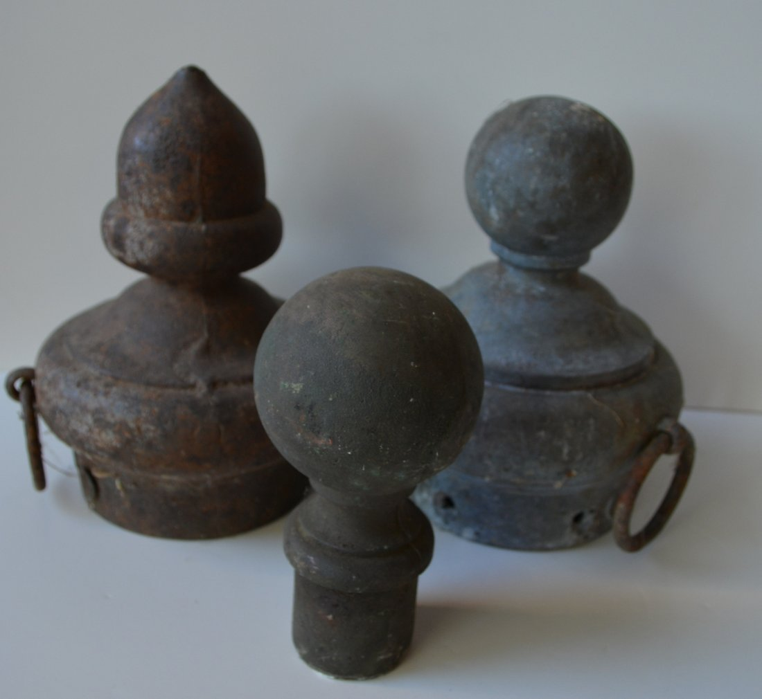 Grouping of architectural ornaments including 2 bronze - 3