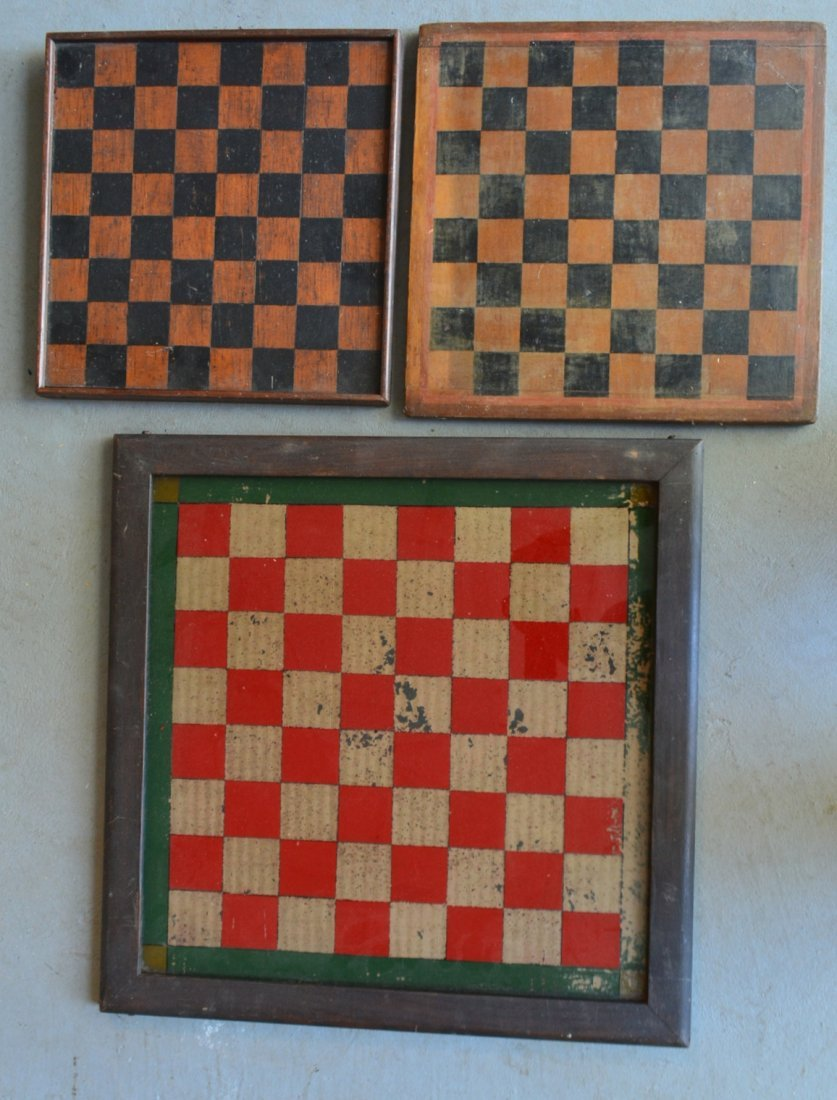 Three 3 American game boards in original paint: 1) With