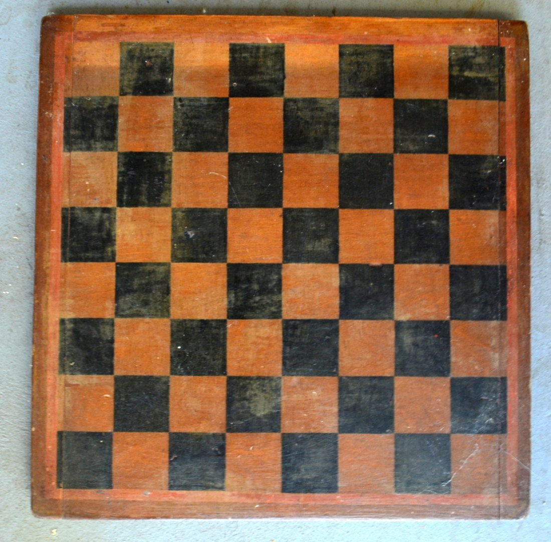 Three 3 American game boards in original paint: 1) With - 2