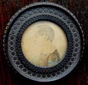 Miniature WC Portrait of young boy in original gutta