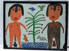Mose Tolliver (Alabama 1919-2006) - Outsider folk-art