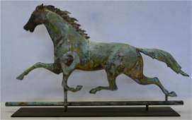 Ethan Allen full body copper running horse weathervane