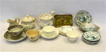 Grouping of early doll china various patterns