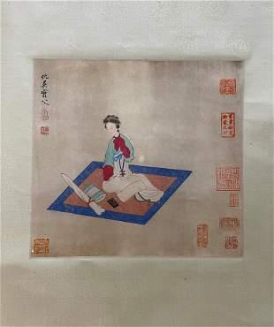 Chou Ying,Figure painting