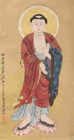 Zhang Daqian, Buddha statue