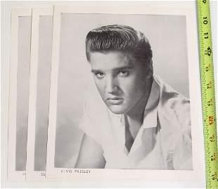 3 Vintage 1950s Elvis Presley Promo Photo Prints
