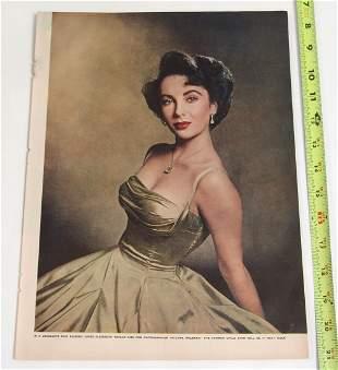 Vintage Photo Print - Elizabeth Taylor at 16