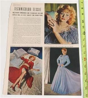 Vintage Article & Photos - Lucille Ball