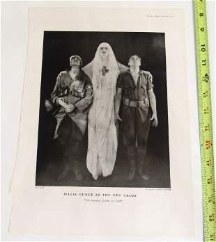 Antique Theatre Print - Red Cross