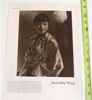 Antique Print - Anna Mae Wong