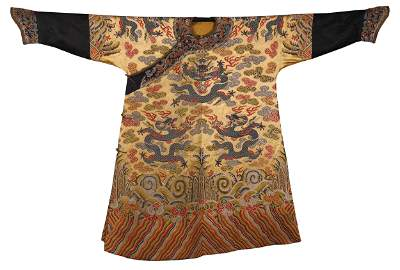 CHINESE GOLT GROND EMBROIDERY NINE DRAGONS TMPERIAL
