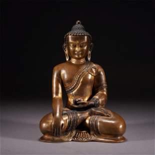 A CHINESE BRONZE FIGURE OF BUDDHA SEATED STATUE
