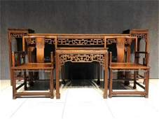 A Set of Chinese Carved Hardwood Crafts