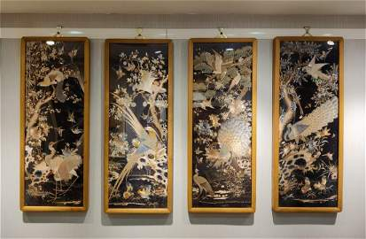A Set of Four Chinese Embroideries