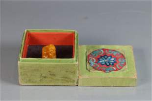 A Chinese Carved Stone Seal