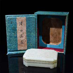 A Chinese Carved Jade Box