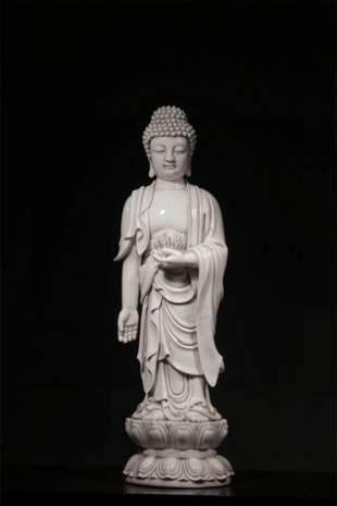 A Chinese Porcelain Figure of Buddha